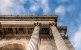 Pillars of the Wellington arch monument Stock Photography