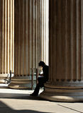 Pillars of Wisdom. British Museum, young man reading Royalty Free Stock Images