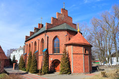 Pillau ` s Luterański kościół budynek w gotyka stylu 1866 budowa Obrazy Royalty Free