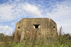 Pillbox. A World War II pillbox in Edgmond, Shropshire, England royalty free stock images
