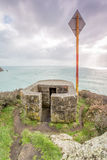 Pillbox near porthcurno in Cornwall england uk. Royalty Free Stock Images