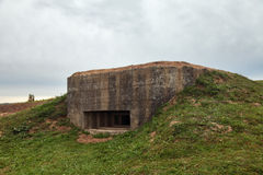 Pillbox. An old pillbox since the Second World war at the turn of the defense of Moscow, Mozhaysk district, Borodino, Russia stock photography