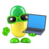 Pille 3d hat einen neuen Laptop-PC Lizenzfreies Stockbild