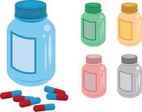 Pille-Flasche Lizenzfreie Stockbilder