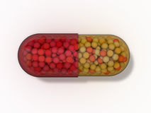 Pille-Kapsel Stockfotografie