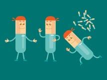 Pille-Mannmaskottchen Stockbild