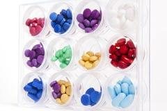 Pillen-Anzeige Stockbild