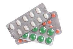 Pillen auf getrennt Lizenzfreie Stockbilder