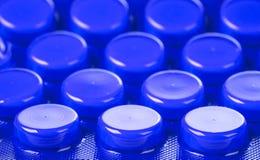 Pillen in blaar Royalty-vrije Stock Foto