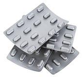 Pillen in blaar (bel) pak Royalty-vrije Stock Afbeelding
