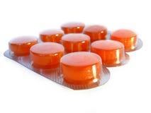 Pillen in blaarpak Stock Afbeeldingen