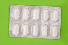Pillen in der Blisterpackung lokalisiert Stockbilder