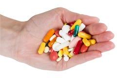 Pillen in der Hand Lizenzfreies Stockfoto