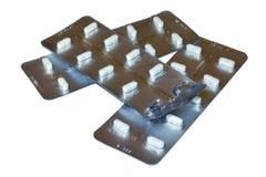 Pillen in een blaar Royalty-vrije Stock Foto's