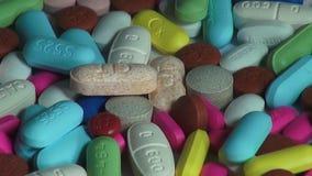 Pillen, Geneeskunde, Drugs, Gezondheid stock videobeelden