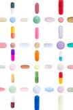Pillen-Muster lizenzfreie stockfotos