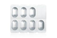 Pillen op blaarpak Stock Afbeeldingen