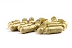 Pillen op wit Stock Foto