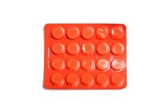 Pillen in pak Stock Foto's