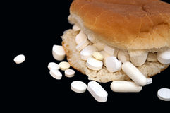 Pillen-Sandwich Stockfoto