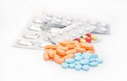 Pillen sind verschieden Lizenzfreie Stockfotos