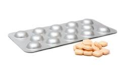 Pillen und Blisterpackung Stockfotos