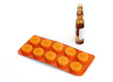 Pillen und Drogen. Lizenzfreies Stockfoto