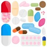 Pillen und Kapseln stock abbildung