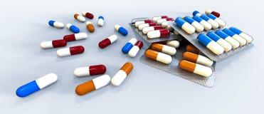 Pillen und Vitamine Stockbilder