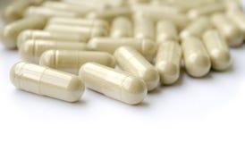 Pillen van kruidsupplement Stock Afbeeldingen