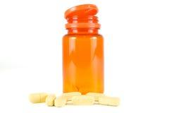 Pillen van vitamine C Royalty-vrije Stock Afbeeldingen
