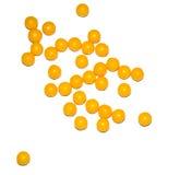 Pillen, Vitamine auf einem weißen Hintergrund Stockfotografie