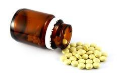 Pillen von der Flasche Lizenzfreie Stockfotografie