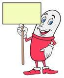 Pillen-Zeichentrickfilm-Figur Lizenzfreies Stockbild