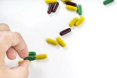 Pillen zerstreut Lizenzfreies Stockfoto