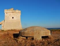 Pillenschachtel bei Torre Squillace stockbild