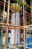 Piller-Bauarbeit Stockfoto