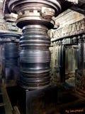 Piller w świątyni obrazy stock