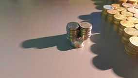 Coins. Pillars of coins Royalty Free Stock Photos