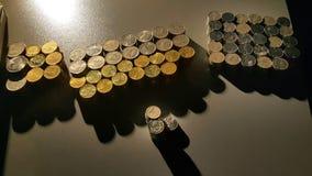 pillers monety zdjęcia stock