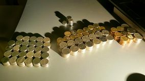pillers monety fotografia royalty free
