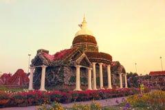 Pillers van de het Mirakeltuin van Doubai stock fotografie