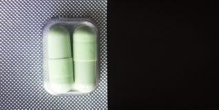 Pillls médicos do bloco de bolha Imagens de Stock Royalty Free