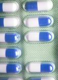 Pillls médicos do bloco de bolha Imagem de Stock Royalty Free