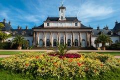 Pillnitz城堡庭院 库存照片
