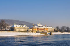 Pillnitz in winter Stock Photography