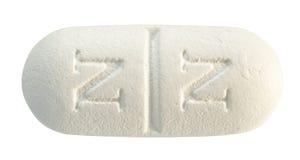 Pillola bianca Immagine Stock