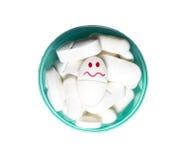 Pillola del fronte di smiley Immagine Stock