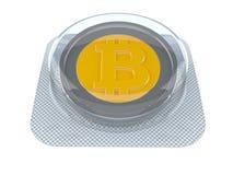Pillola di Bitcoin royalty illustrazione gratis