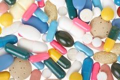 Pillola e fondo medico di struttura della capsula Immagini Stock Libere da Diritti